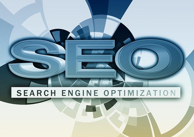 Modrý nápis SEO, Search Engine Optimization, modro-biele pozadie.jpg